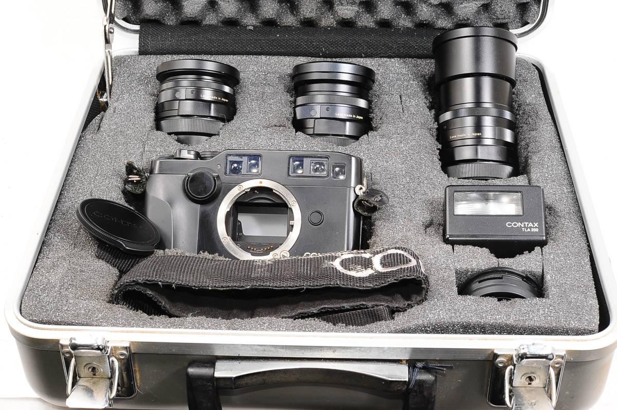 コンタックス CONTAX G2 記念キット-ブラック (ゾナー90mm,プラナー45mm ビオゴン28mm ,TLA200) + 専用ケース,フード,ストラップ [047187]