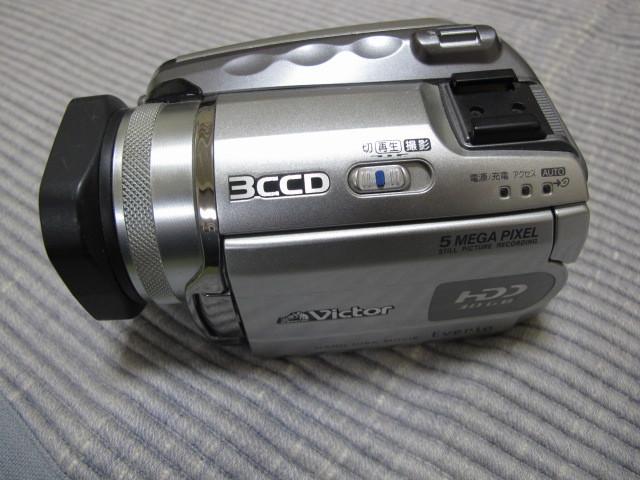 Victor Evrio GZ-MG505-S 30GB ビクター DVDビデオカメラ エブリオ シルバー_画像2