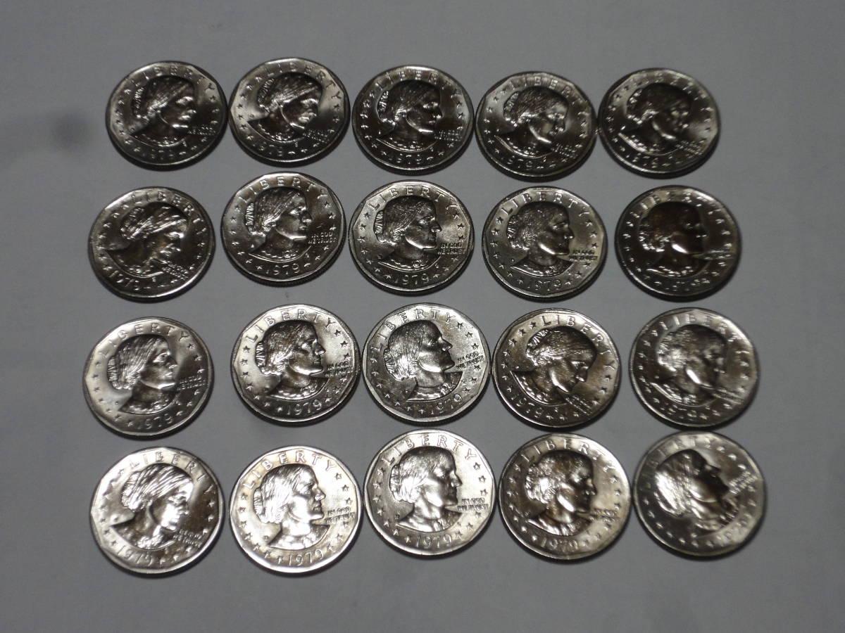 アメリカ アンソニー1ドル硬貨20枚_画像1