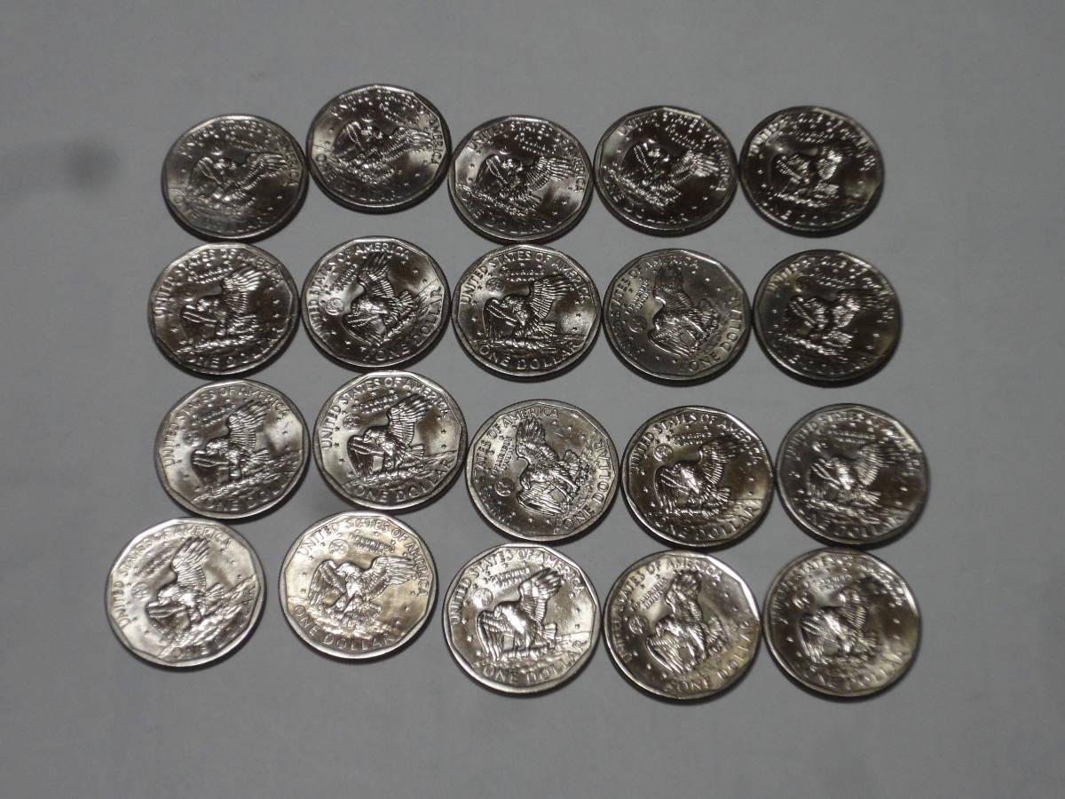 アメリカ アンソニー1ドル硬貨20枚_画像2