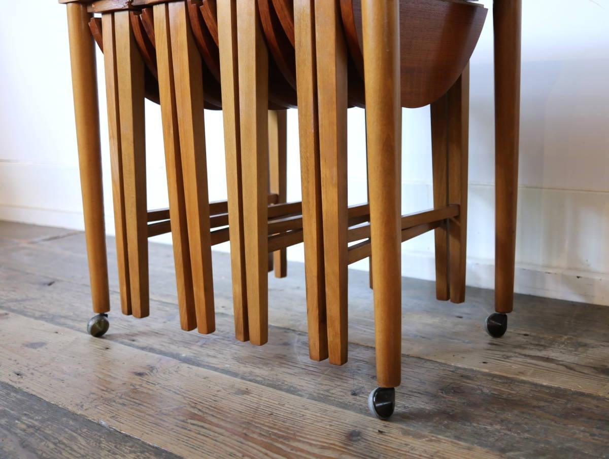 ◆◇【希少】Poul Hundevad ビンテージ ネストテーブル③/ G PLAN ERCOL コーヒーテーブル アンティーク 北欧 英国 デンマーク イギリス_画像5
