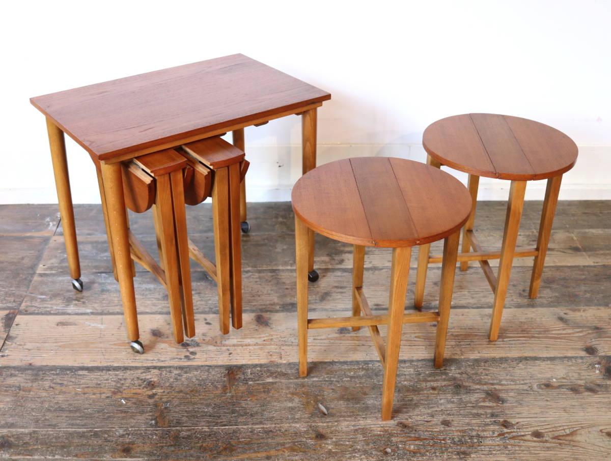 ◆◇【希少】Poul Hundevad ビンテージ ネストテーブル③/ G PLAN ERCOL コーヒーテーブル アンティーク 北欧 英国 デンマーク イギリス_画像6