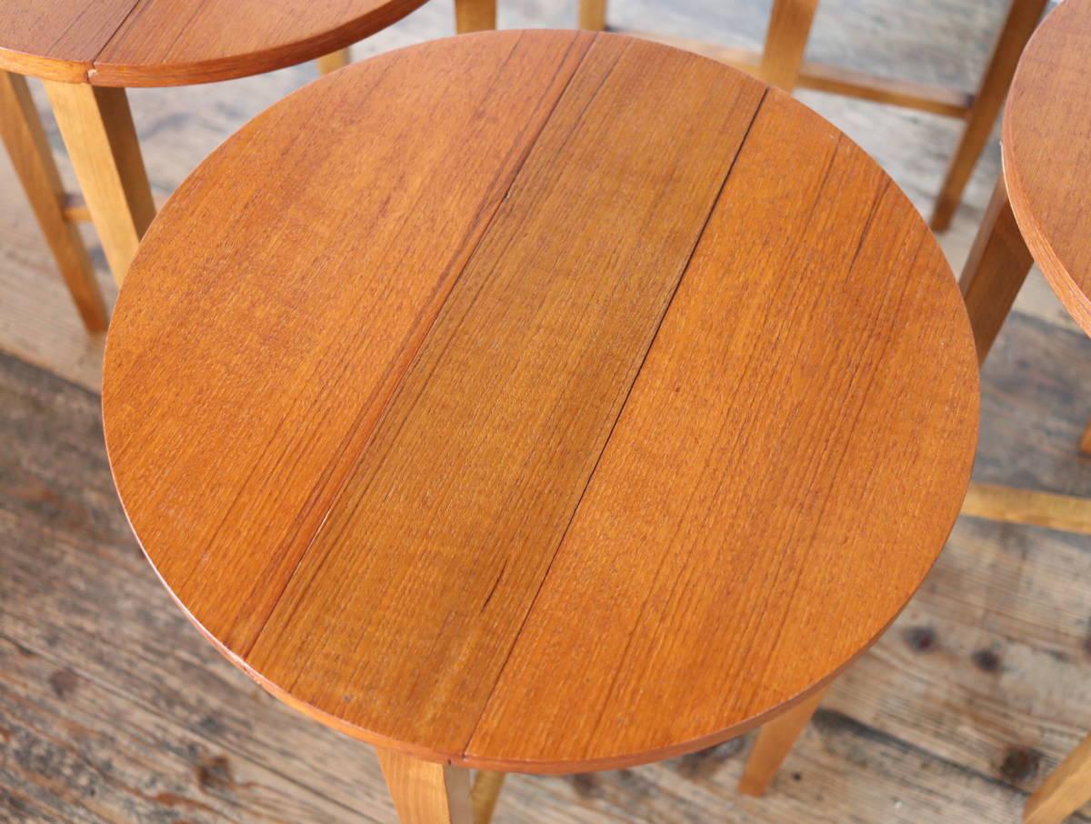 ◆◇【希少】Poul Hundevad ビンテージ ネストテーブル③/ G PLAN ERCOL コーヒーテーブル アンティーク 北欧 英国 デンマーク イギリス_画像9