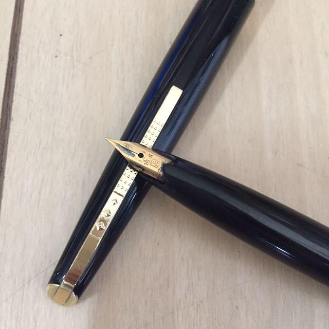古い万年筆 PLATINUM プラチナ★ペン先18K 18金 事務用品 筆記用具_画像2
