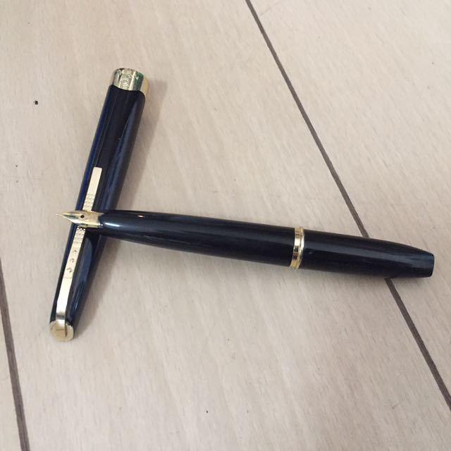 古い万年筆 PLATINUM プラチナ★ペン先18K 18金 事務用品 筆記用具