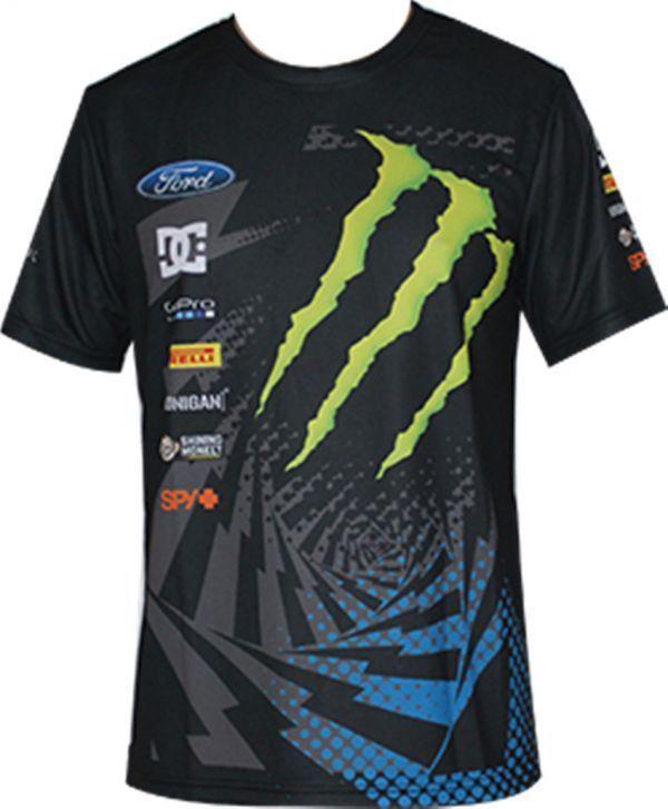 MOTO GP モンスターエナジー ロッシ オフロード 半袖Tシャツ吸汗、速乾、通気 B #Etk