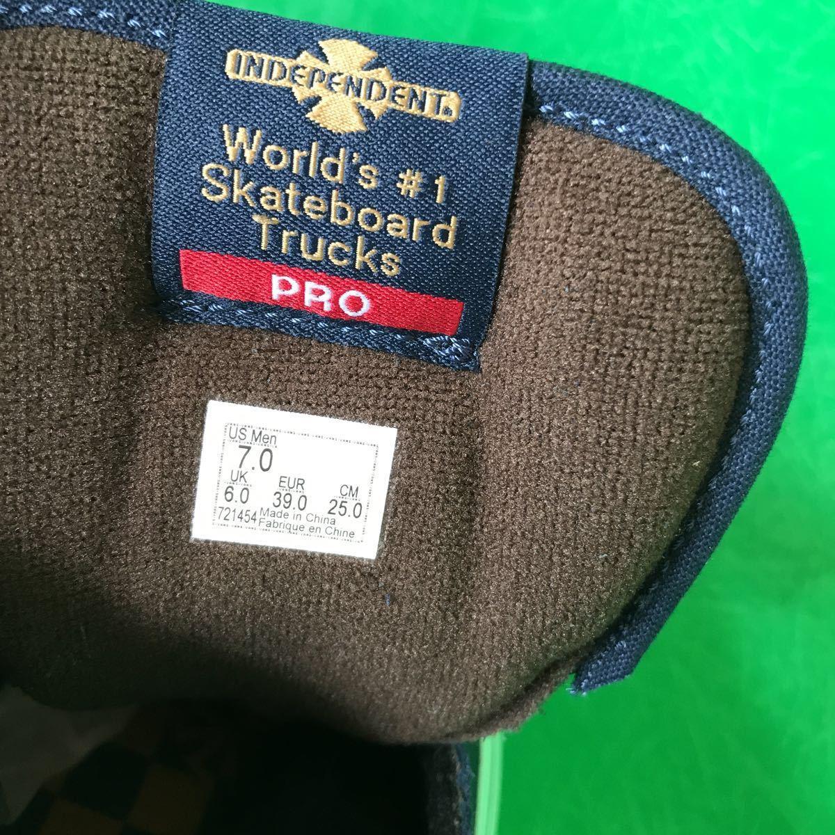 スニーカー VANS ハーフキャブプロ 25cm(US7)Dress Blues バンズ スケーターシューズ インディペンデント コラボモデル_画像9
