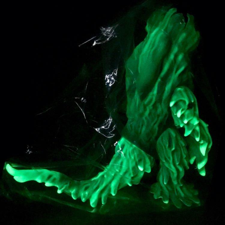 マルサン ヘドラ 450 潮風 ブルー&GID 蓄光 ゴジラ ソフビ フィギュア marusan Godzilla HEDORAH Marble Finish_画像6