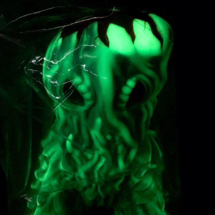 マルサン ヘドラ 450 潮風 ブルー&GID 蓄光 ゴジラ ソフビ フィギュア marusan Godzilla HEDORAH Marble Finish_画像8