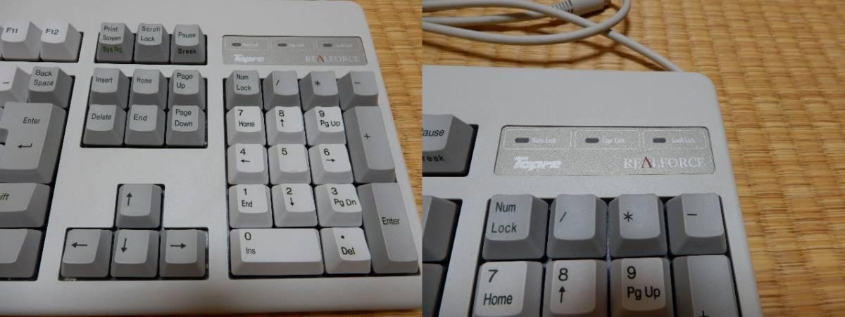 [中古] PC用キーボード・東プレ REALFORCE 108 日本語 PS/2接続 10キー付き_画像3