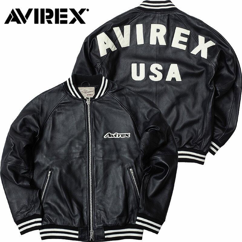 AVIREX(アヴィレックス)バックロゴ レザージャケットL/サンプル品