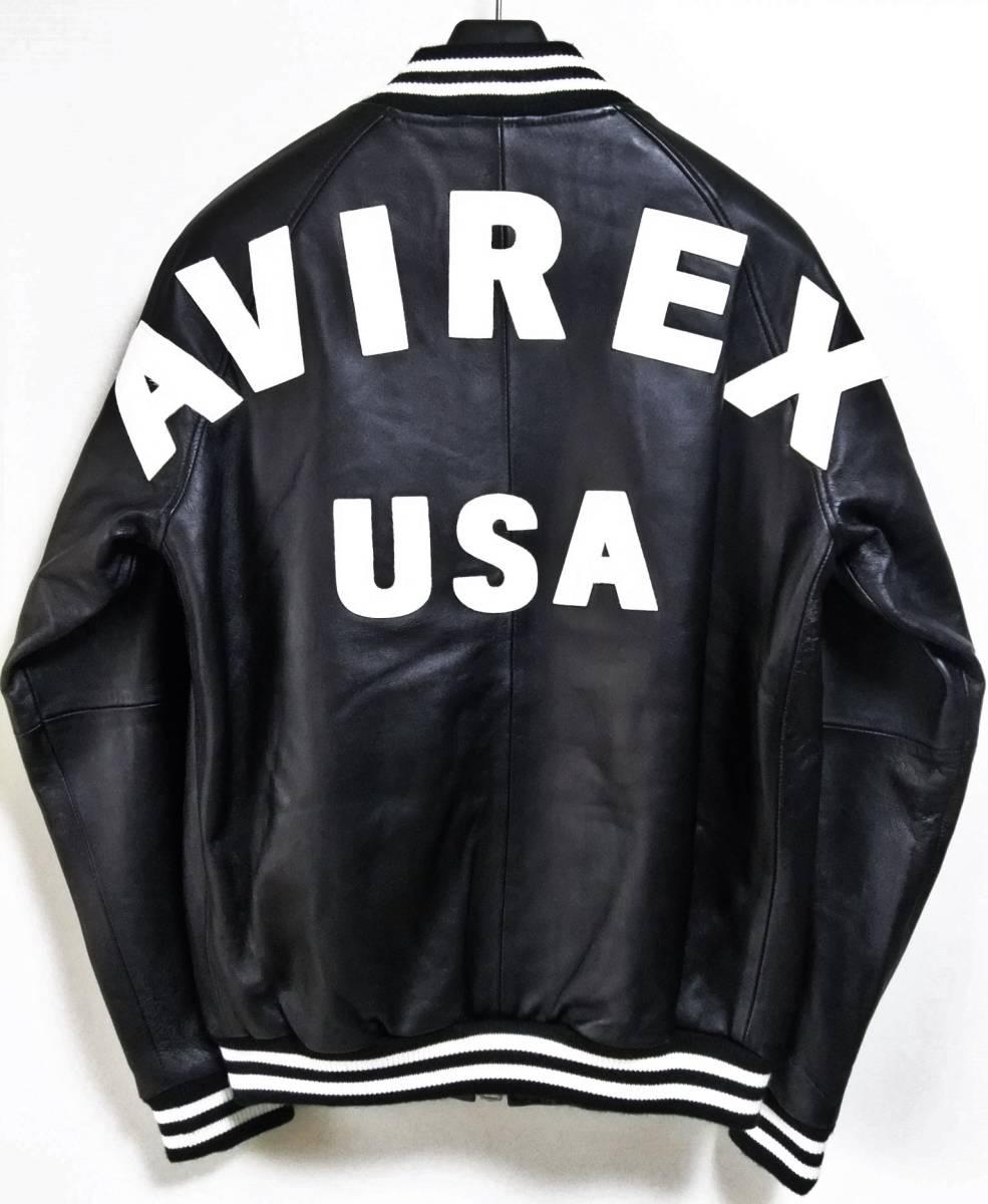 AVIREX(アヴィレックス)バックロゴ レザージャケットL/サンプル品_画像2