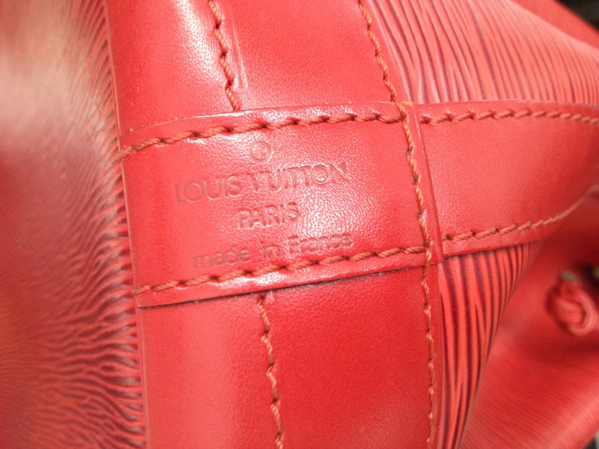 ●ヴィトン エピ ノエ ショルダーバッグ 赤 M44007●VUITTON 鞄 美品_画像9