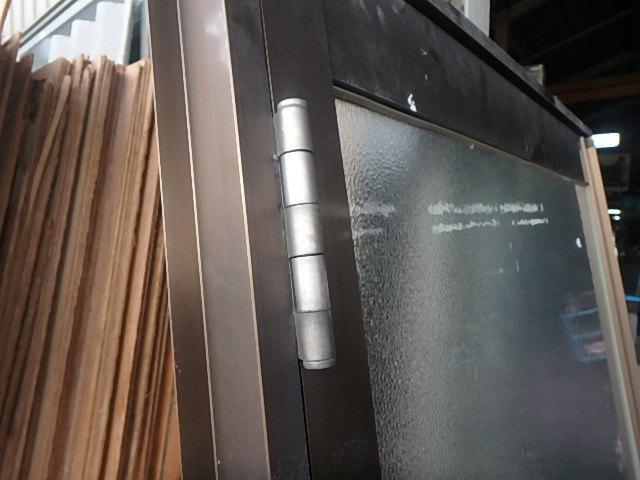 071305三協アルミサッシ勝手口ドア枠セット出入り口玄関窓 西_画像4