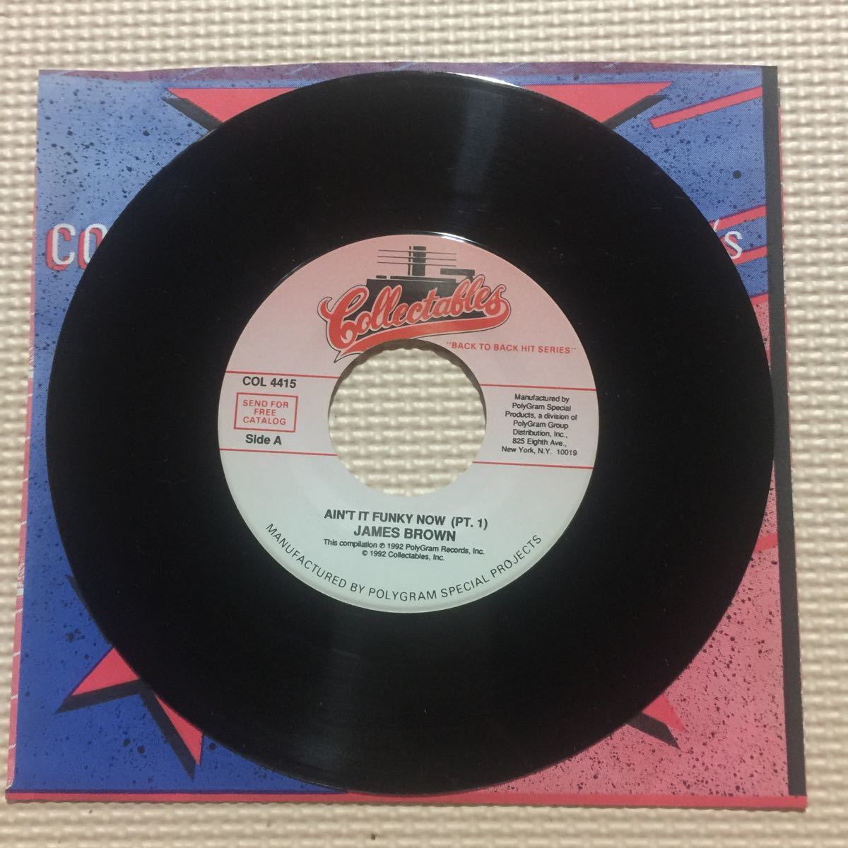 James Brown Ain't It Funky Now USA盤7インチシングルレコード_画像2