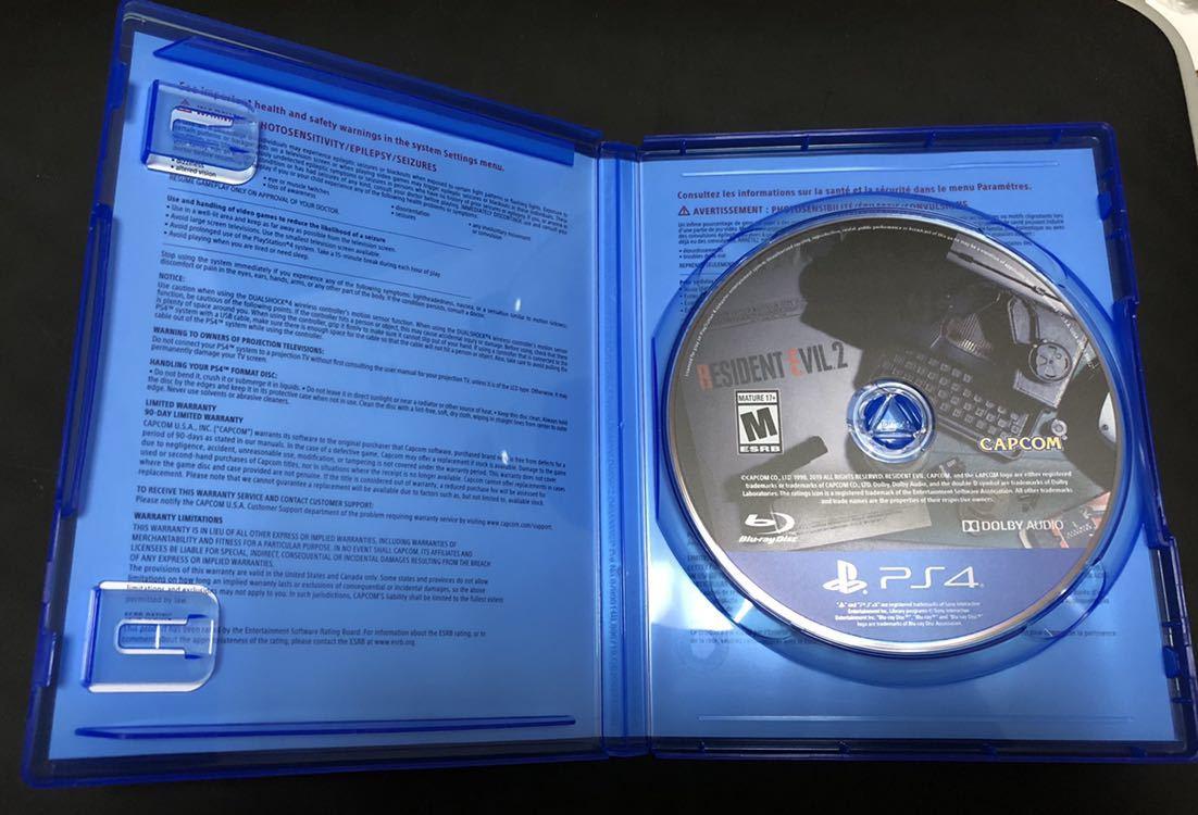 【中古美品】バイオハザードRE:2 北米版 RESIDENT EVIL 2【規制なし・使用1回のみ】_画像2