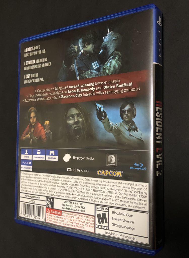 【中古美品】バイオハザードRE:2 北米版 RESIDENT EVIL 2【規制なし・使用1回のみ】_画像4