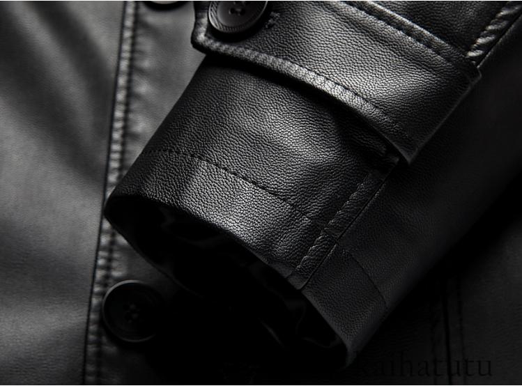 稀少!高品質★羊の皮100%スーツ 中長 皮革製服 紳士用レザージャケット メンズレザーウェア ビジネス ジャケット サイズ選択可_画像9