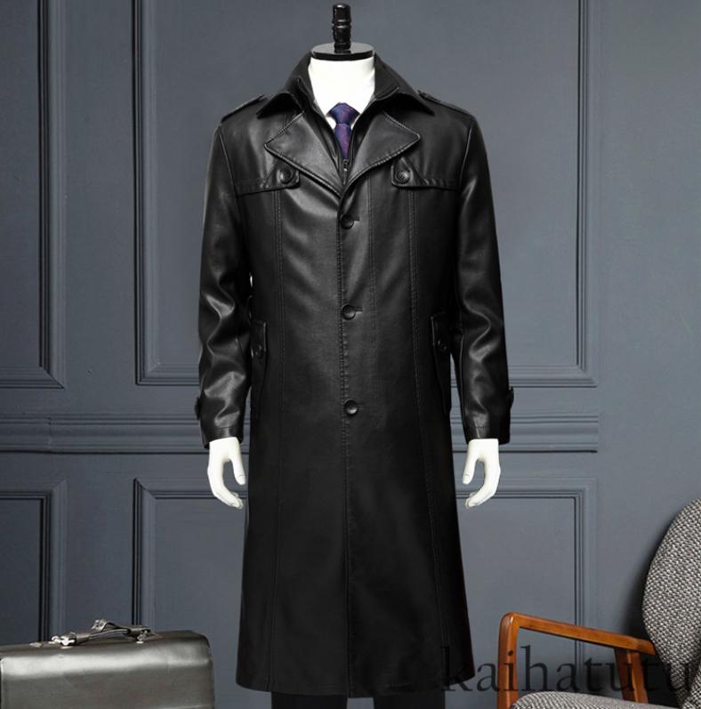 稀少!高品質★羊の皮100%スーツ 中長 皮革製服 紳士用レザージャケット メンズレザーウェア ビジネス ジャケット サイズ選択可