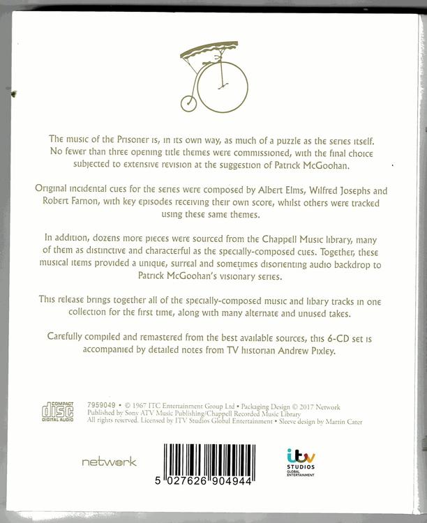 【6CD+ブックレット】プリズナーNo.6◆ロバート・ファーノン / ロン・グレイナー / 他 _画像2