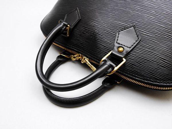 ■【極美品】ルイヴィトン Louis Vuitton アルマ ハンドバッグ エピ ノワール 定価約17万_画像4