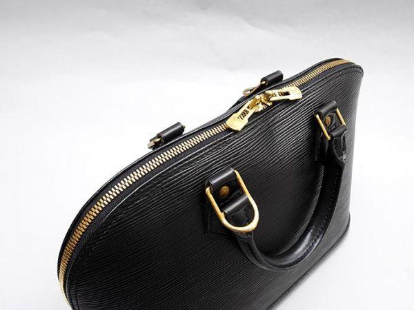 ■【極美品】ルイヴィトン Louis Vuitton アルマ ハンドバッグ エピ ノワール 定価約17万_画像3