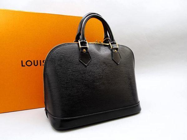 ■【極美品】ルイヴィトン Louis Vuitton アルマ ハンドバッグ エピ ノワール 定価約17万_画像2