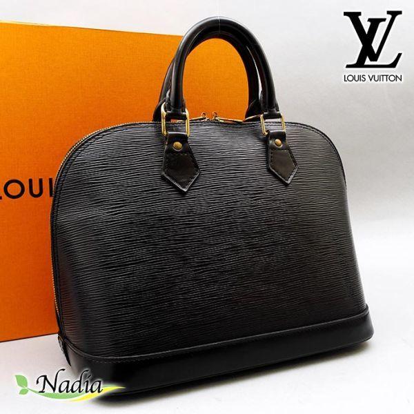 ■【極美品】ルイヴィトン Louis Vuitton アルマ ハンドバッグ エピ ノワール 定価約17万