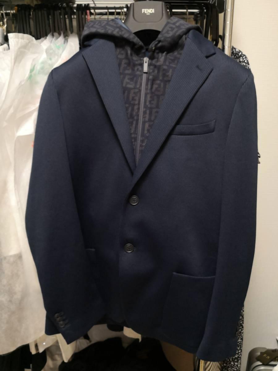 新品 2019-20AW FENDI フェンディ ジャケット ネイビー 紺 50 L 定価¥234,360 新宿伊勢