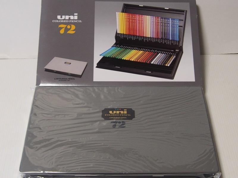 新品 ユニカラー uni COLORED PENCIL 72色セット スケッチブック カバン 文房具色々まとめ_画像5