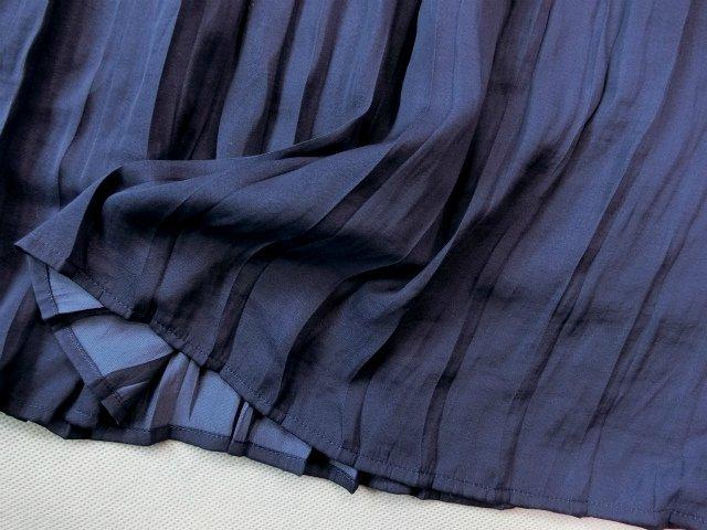 ■組曲大きいサイズ6今季完売プリーツスカートコンビニットワンピース紺白■_画像8