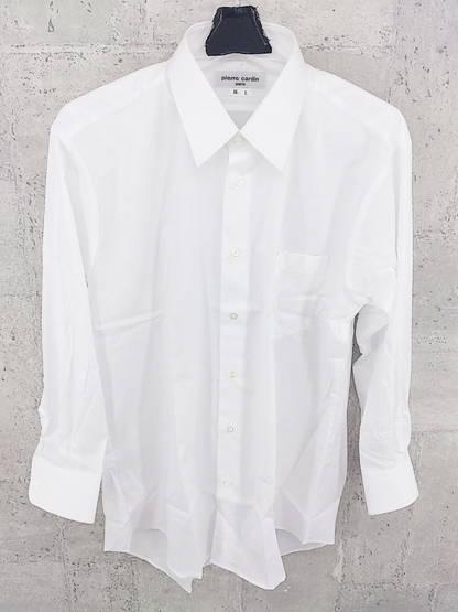 ◇ Pierre Cardin ピエール カルダン シャドーストライプ 長袖 ドレス シャツ ホワイト # ◆ 1000279643235_画像1
