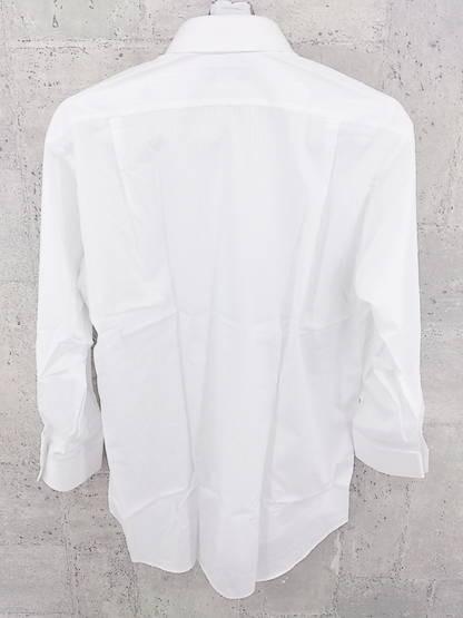◇ Pierre Cardin ピエール カルダン シャドーストライプ 長袖 ドレス シャツ ホワイト # ◆ 1000279643235_画像2