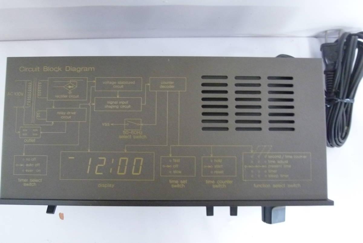 《通電確認済み》national ナショナル オーディオタイマー TE903 Panasonicパナソニック Y2019071101_画像3