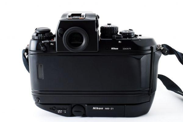 ◆AB (良品)ニコン Nikon F4S ボディ + MB-21 外観綺麗です/471772_画像3