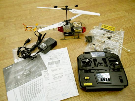 ■ヒロボー XRB SR ラマ スカイロボ 同軸反転方式室内用RC電動ヘリ SKY ROBO lama_画像2