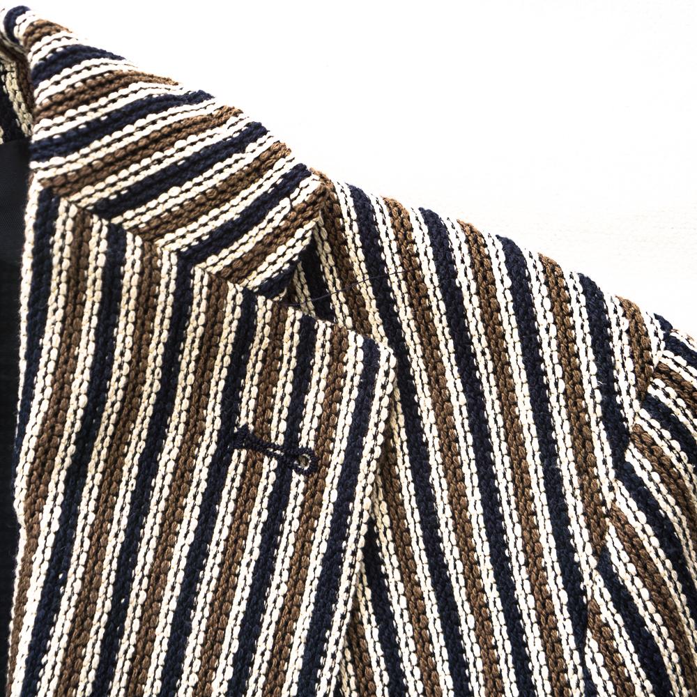 イタリア製★ タリアトーレ コットン ニット ジャージー ジャケット 48 ストライプ TAGLIATORE モンテカルロ ピーノレラリオ MONTECARLO_画像4