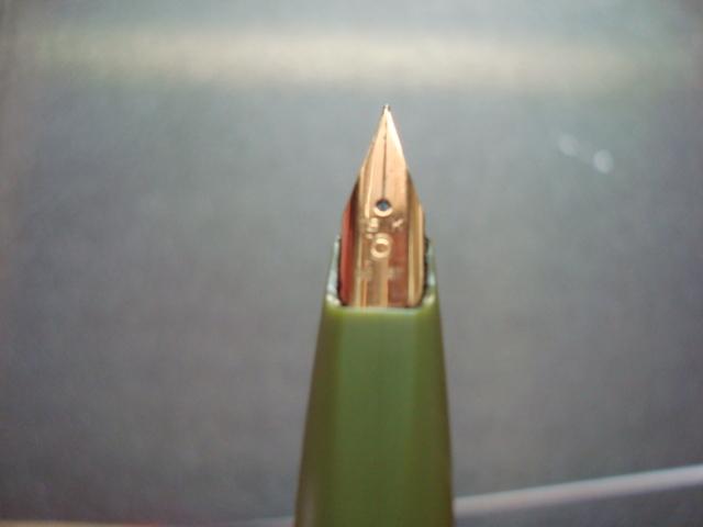 レトロな色合い PLATINUM ★プラチナ万年筆 18K 細軟 ケース付き_画像4