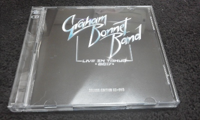 最新 CD+DVD Graham Bonnet Band - Live in Tokyo 2017 Delux Edition 輸入盤 Alcatrazz/Rainbow/MSG 日本製DVDプレイヤー再生可_画像1