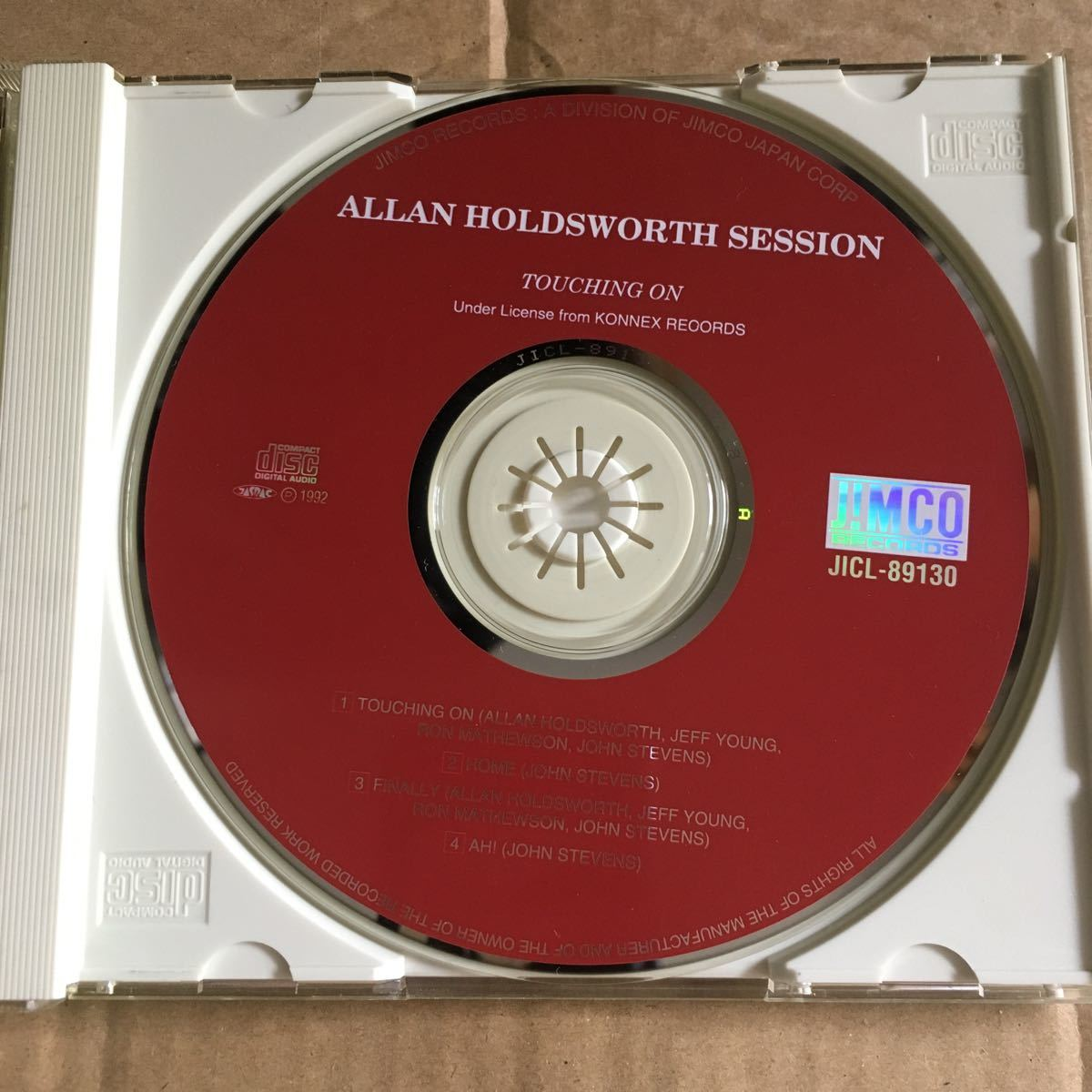 Allan Holdsworth - Touching On ('90) 帯付 ジムコ_画像2