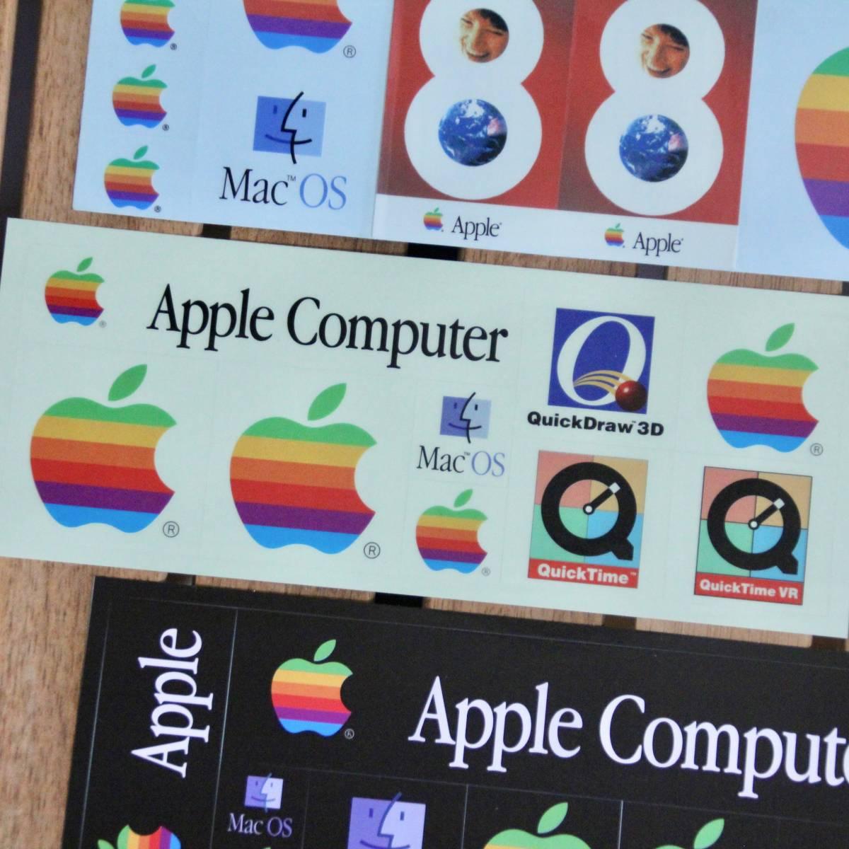 デッドストック Apple Computer アップル コンピューター レインボー ロゴ Mac OS ステッカーセット 非売品 ノベルティー Think Different_画像4