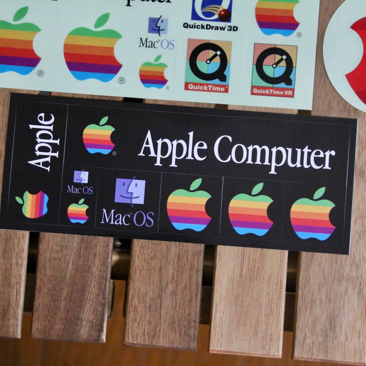 デッドストック Apple Computer アップル コンピューター レインボー ロゴ Mac OS ステッカーセット 非売品 ノベルティー Think Different_画像3