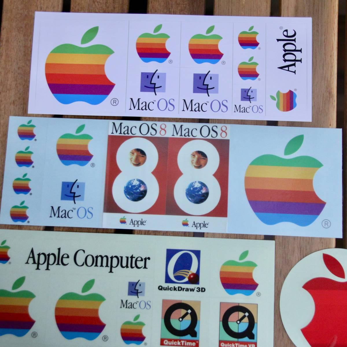 デッドストック Apple Computer アップル コンピューター レインボー ロゴ Mac OS ステッカーセット 非売品 ノベルティー Think Different_画像2