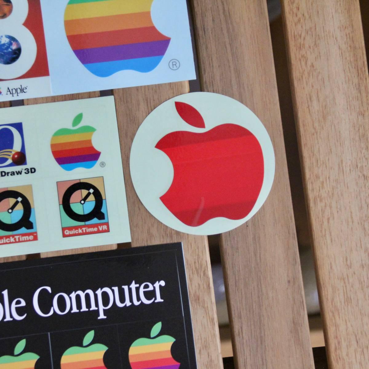 デッドストック Apple Computer アップル コンピューター レインボー ロゴ Mac OS ステッカーセット 非売品 ノベルティー Think Different_画像5