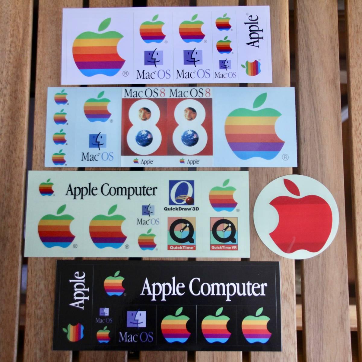 デッドストック Apple Computer アップル コンピューター レインボー ロゴ Mac OS ステッカーセット 非売品 ノベルティー Think Different