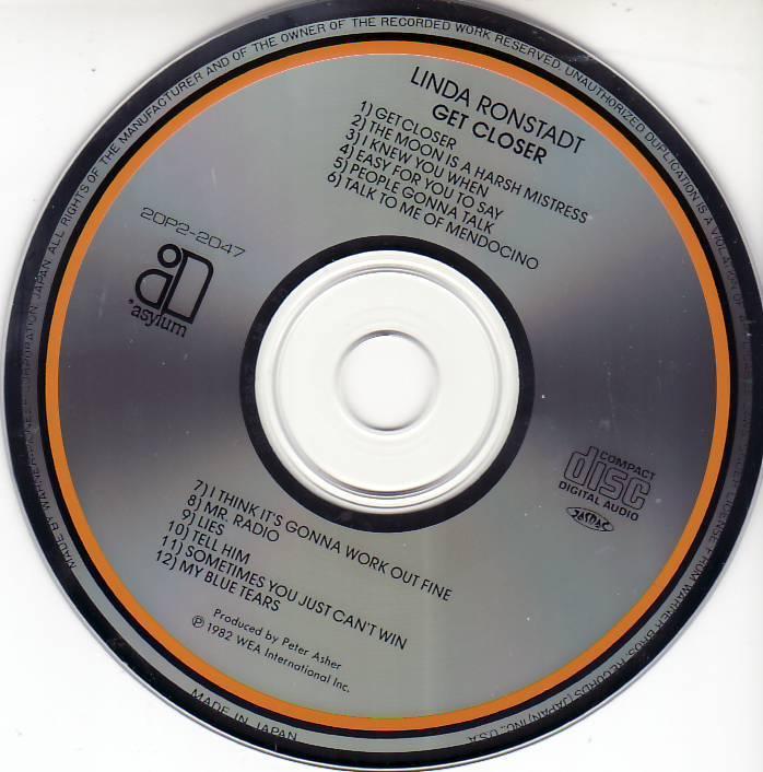 CD リンダ ロンシュタット LINDA RONSTADT / ゲット・クローサー GET CLOSER_画像5