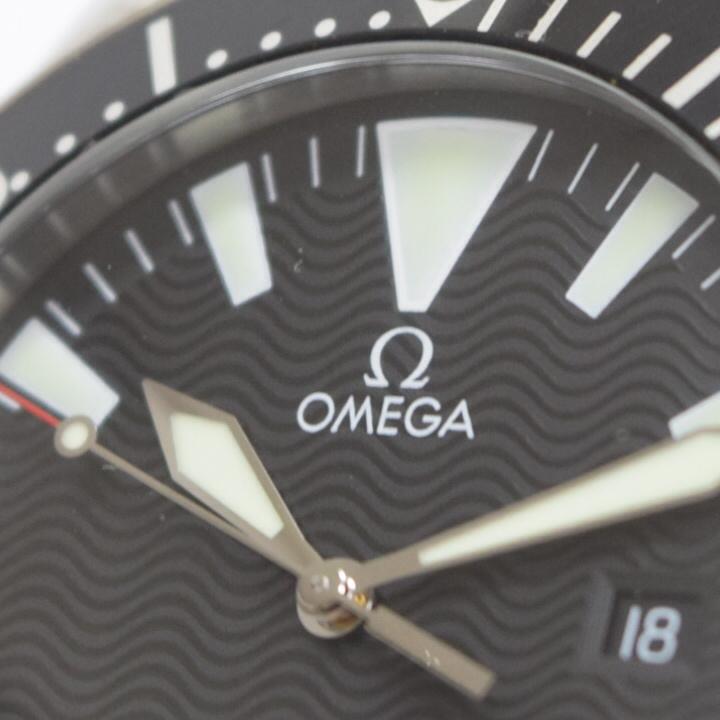 [TI705] 正規品 美品 オメガ シーマスター プロフェッショナル ラージサイズ 300m 2264.50 ダイバークォーツ OMEGA Seamaster Professional_画像6