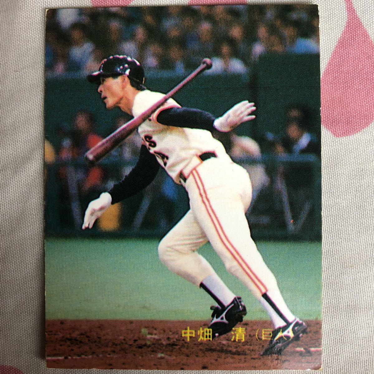 【中畑清】89年No.163 読売ジャイアンツ レアブロック カルビープロ野球カード