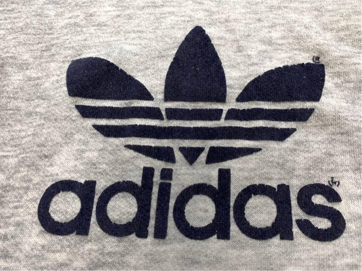 70's adidas USA製 ツートン スウェット パーカー フーディー トレーナー / ビンテージ アディダス オリジナル 70年代 80's ATP デカロゴ _画像7