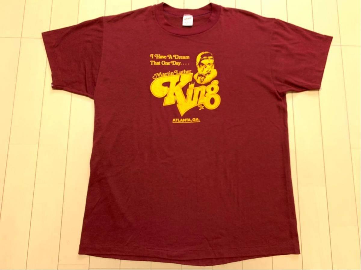 80's Martin Luther King Jr キング牧師 Tシャツ / ビンテージ80年代 マーティンルーサーキングジュニア マルコムX NELSON MANDELA 黒人90s_画像2